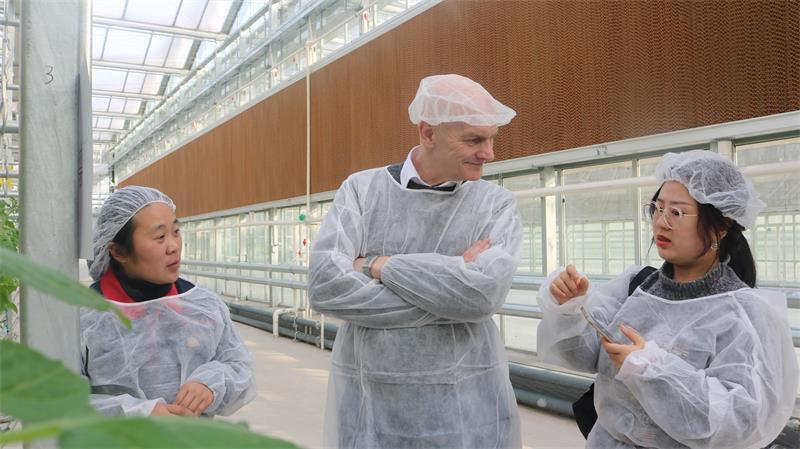 英国贝尔法斯特女王大学教授Christopher Elliott教授参观考察南和农业嘉年华(图2)